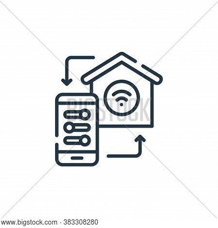 settings icon isolated on white background from smarthome collection. settings icon trendy and moder