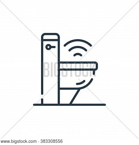 toilet icon isolated on white background from smarthome collection. toilet icon trendy and modern to