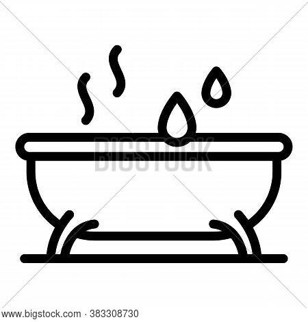 Hot Bathtub Essential Oils Icon. Outline Hot Bathtub Essential Oils Vector Icon For Web Design Isola