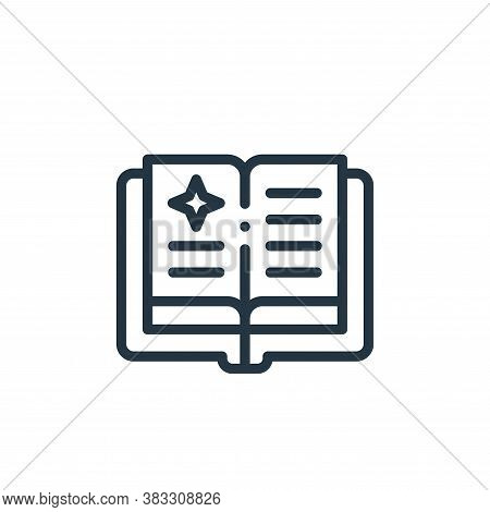 magic book icon isolated on white background from magic collection. magic book icon trendy and moder