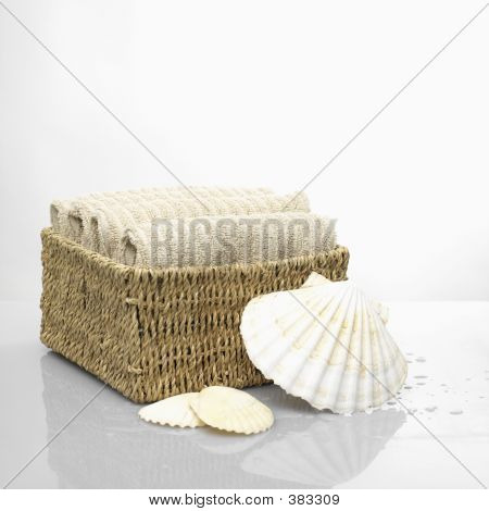 Towel With Shells I A Spa Resort