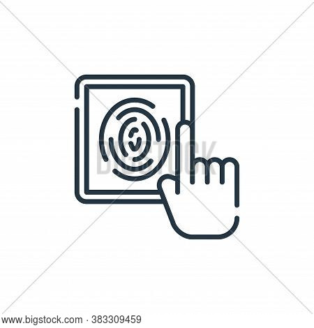 fingerprint scan icon isolated on white background from smarthome collection. fingerprint scan icon