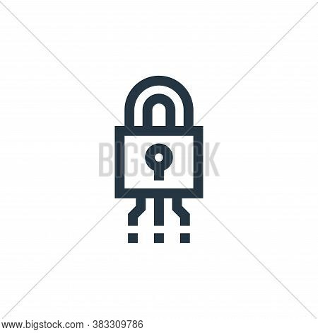 cyber security icon isolated on white background from futuristic technology collection. cyber securi