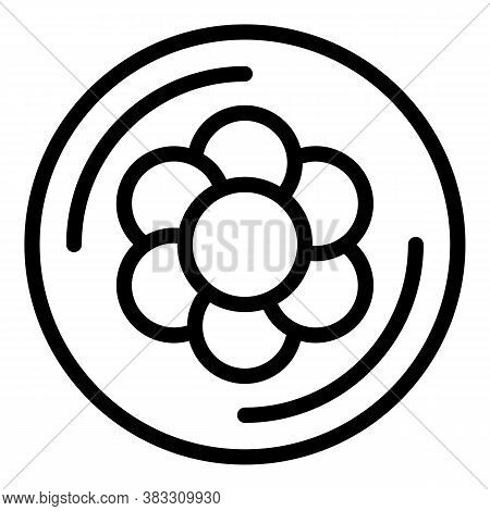 Water Flower Essential Oil Icon. Outline Water Flower Essential Oil Vector Icon For Web Design Isola