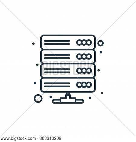 database icon isolated on white background from web hosting collection. database icon trendy and mod