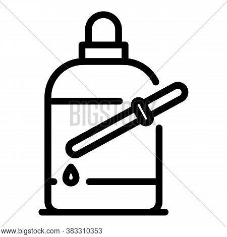Dropper Bottle Essential Oil Icon. Outline Dropper Bottle Essential Oil Vector Icon For Web Design I