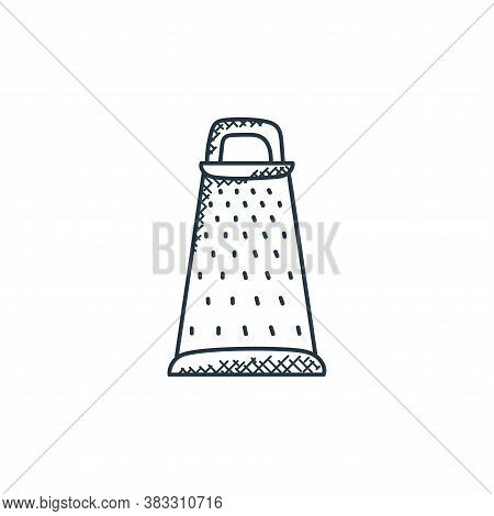 grater icon isolated on white background from food collection. grater icon trendy and modern grater