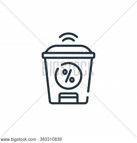 smart trash icon isolated on white background from smarthome collection. smart trash icon trendy and
