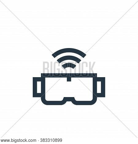 virtual reality glasses icon isolated on white background from futuristic technology collection. vir