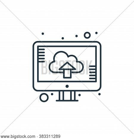 upload icon isolated on white background from web hosting collection. upload icon trendy and modern