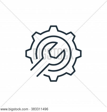 gear icon isolated on white background from labour day collection. gear icon trendy and modern gear