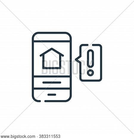 alert icon isolated on white background from smarthome collection. alert icon trendy and modern aler