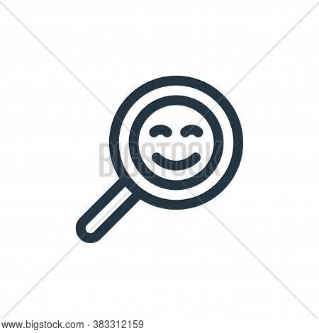 searching icon isolated on white background from customer service collection. searching icon trendy
