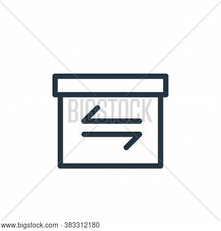 transaction icon isolated on white background from ecommerce line collection. transaction icon trend