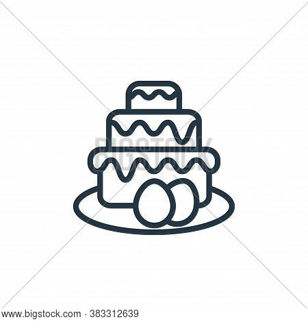 cake icon isolated on white background from easter collection. cake icon trendy and modern cake symb