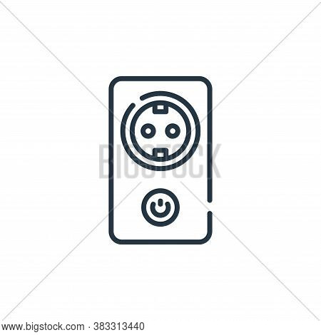 socket icon isolated on white background from smarthome collection. socket icon trendy and modern so