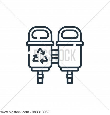 recycle bin icon isolated on white background from public services collection. recycle bin icon tren