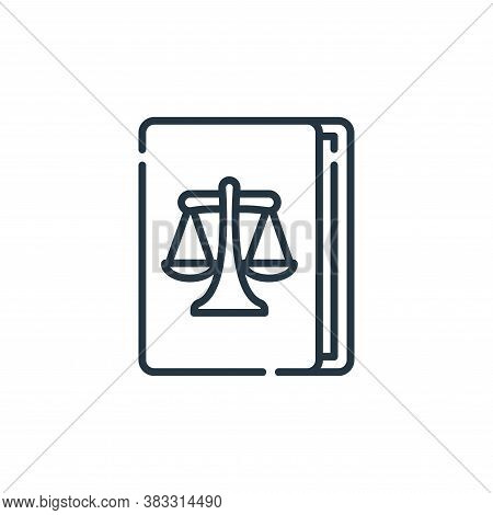 law book icon isolated on white background from auction collection. law book icon trendy and modern