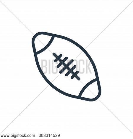 rugby ball icon isolated on white background from sports collection. rugby ball icon trendy and mode