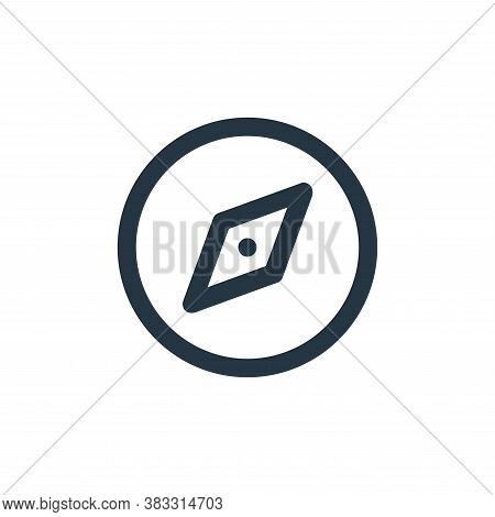 compass icon isolated on white background from business and management collection. compass icon tren