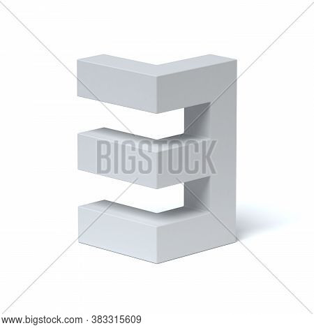 Isometric Font 3d Rendering Number 3, Three Dimensional Object