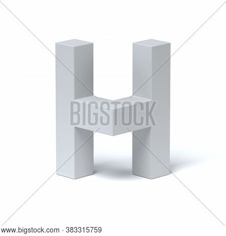 Isometric Font 3d Rendering Letter H, Three Dimensional Object