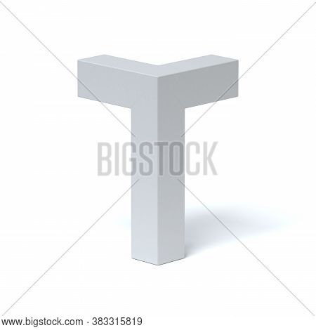 Isometric Font 3d Rendering Letter T, Three Dimensional Object