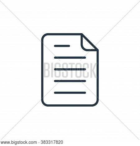 document icon isolated on white background from communication collection. document icon trendy and m
