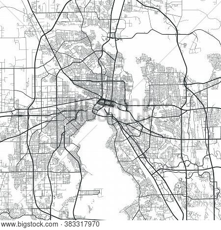 Urban City Map Of Jacksonville. Vector Illustration, Jacksonville Map Art Poster.