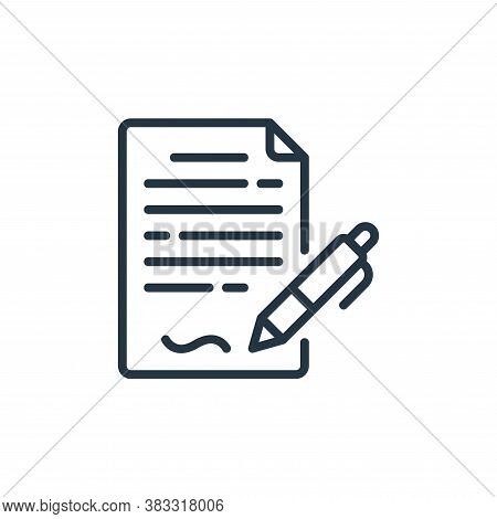 contract icon isolated on white background from business collection. contract icon trendy and modern