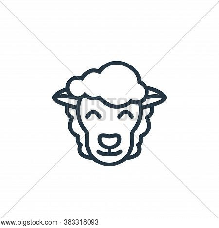sheep icon isolated on white background from easter collection. sheep icon trendy and modern sheep s
