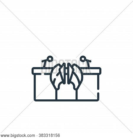 judge icon isolated on white background from esports collection. judge icon trendy and modern judge