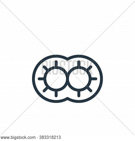 cell division icon isolated on white background from microorganism collection. cell division icon tr