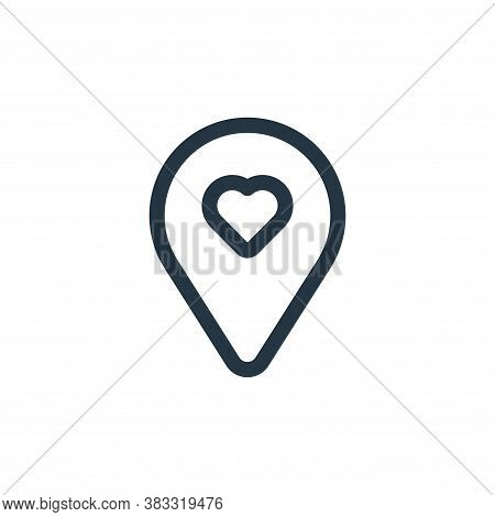 location icon isolated on white background from valentine collection. location icon trendy and moder