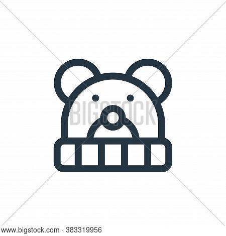 beanie icon isolated on white background from baby shower collection. beanie icon trendy and modern