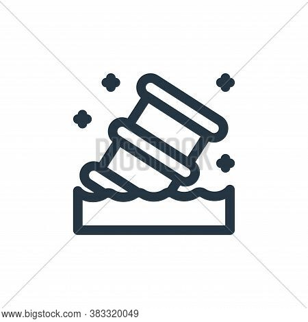 toxic icon isolated on white background from nuclear energy collection. toxic icon trendy and modern