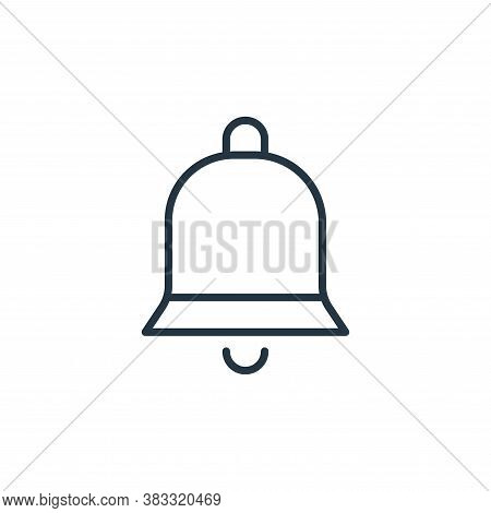 bell icon isolated on white background from communication collection. bell icon trendy and modern be
