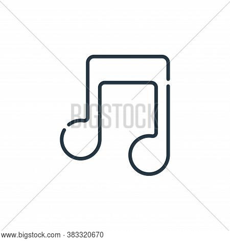 music icon isolated on white background from event collection. music icon trendy and modern music sy