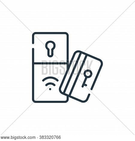 key card icon isolated on white background from smarthome collection. key card icon trendy and moder