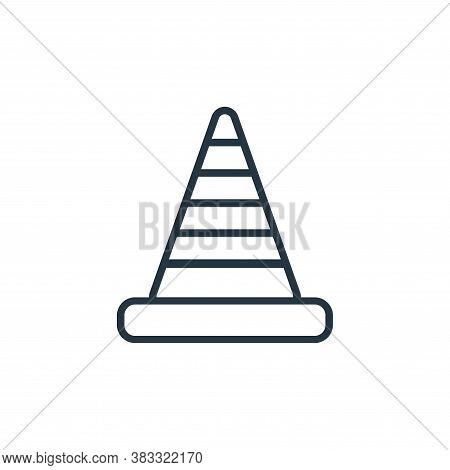 cone icon isolated on white background from labor day collection. cone icon trendy and modern cone s