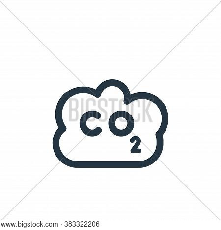 co icon isolated on white background from nuclear energy collection. co icon trendy and modern co sy