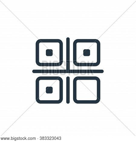 qr code icon isolated on white background from ecommerce line collection. qr code icon trendy and mo