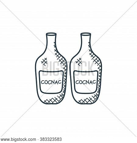 cognac icon isolated on white background from food collection. cognac icon trendy and modern cognac
