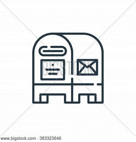 postbox icon isolated on white background from public services collection. postbox icon trendy and m