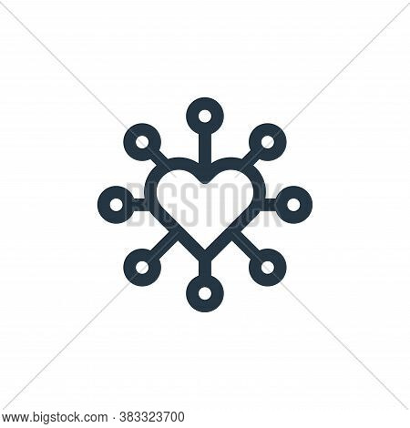 networking icon isolated on white background from customer service collection. networking icon trend
