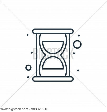 hourglass icon isolated on white background from seo collection. hourglass icon trendy and modern ho