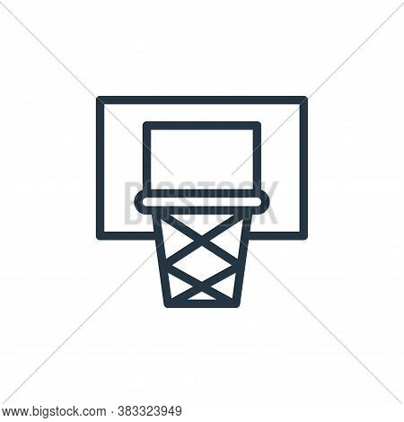 basketball hoop icon isolated on white background from sports collection. basketball hoop icon trend