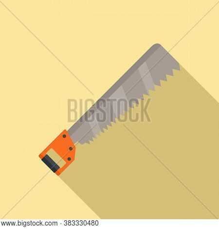 Back Saw Icon. Flat Illustration Of Back Saw Vector Icon For Web Design