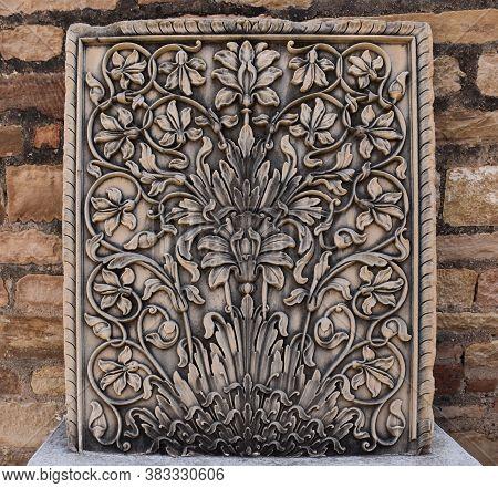Gwalior, Madhya Pradesh/india - March 15, 2020 : Designer Pillar At Gujari Mahal Museum In Gwalior F
