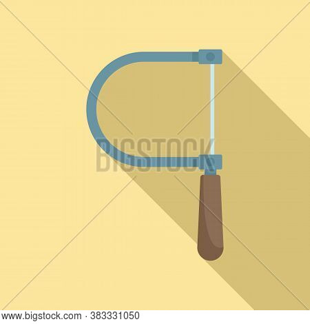 Steel Coping Saw Icon. Flat Illustration Of Steel Coping Saw Vector Icon For Web Design